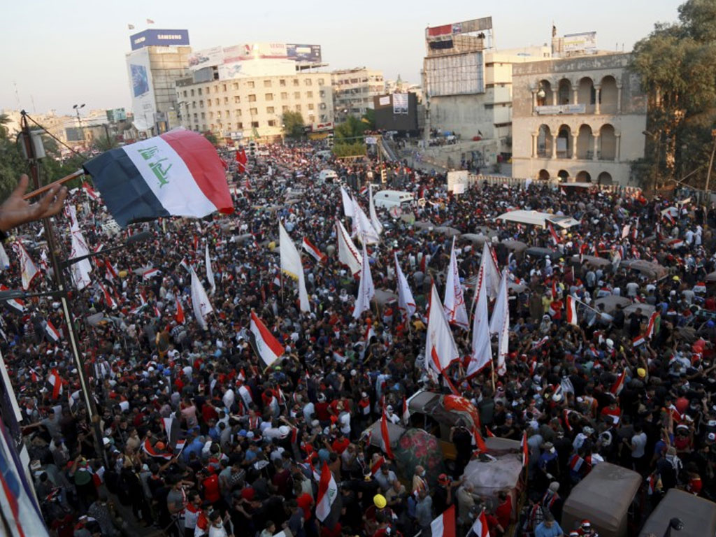 Iraqis step up protests as deadline for new PM looms