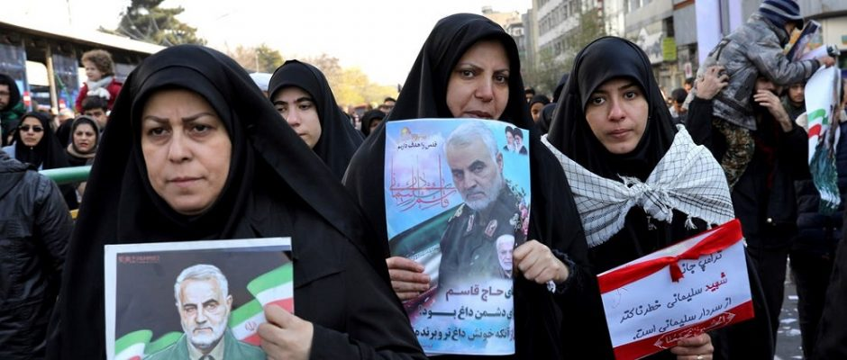 Funeral of Soleimani in Iran